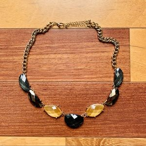Gemstone Necklace in Bronze, Gold and Black